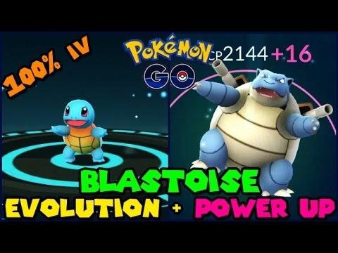 Evolving 100% IV SQUIRTLE to BLASTOISE + Power Up! (Pokemon Go Evolution)