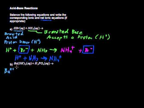 What are Acid Base Reactions? - College Chemistry Tips