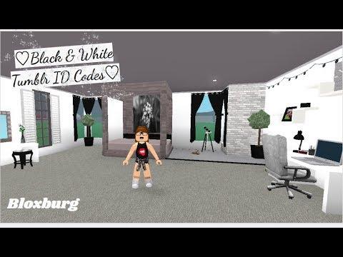 ROBLOX | Welcome to Bloxburg: ♡Black & White Tumblr ID Codes♡ #2
