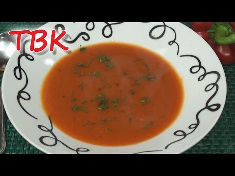 Low Calorie Roasted Red Pepper Soup Recipe - Titli's Busy Kitchen
