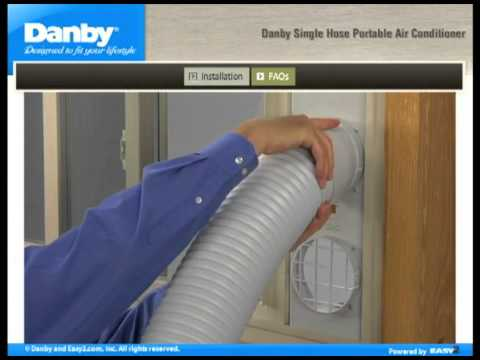 How to install a Danby Single Hose Portable Air Conditioner