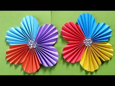 How To Make a  Flower With Colour Paper Easy & Simple !!!! Easy Paper Flower  tutorial !