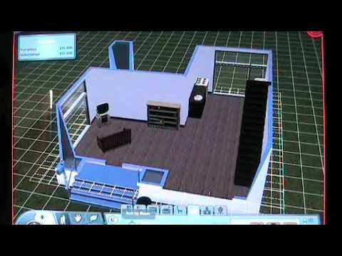 Sims 3 Building a cheap modern house