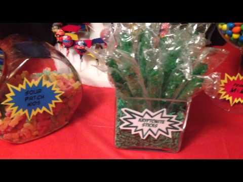 Cool Super Hero Candy Buffet/Candy Bar - Birthday Party