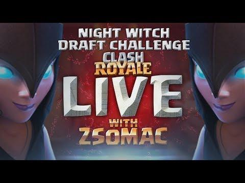 Night Witch Draft Challenge | Clash Royale Magyarul