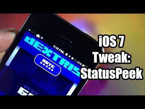 iOS 7 Jailbreak Tweak: StatusPeek