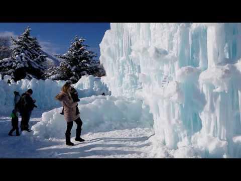Anna & Elsa Frozen Ice Castle in Utah 2017