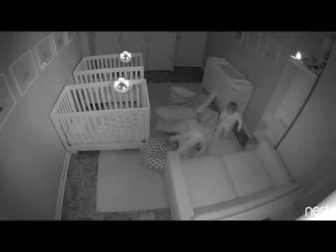 Twin Toddlers Escape From Their Cribs To Have Overnight Party
