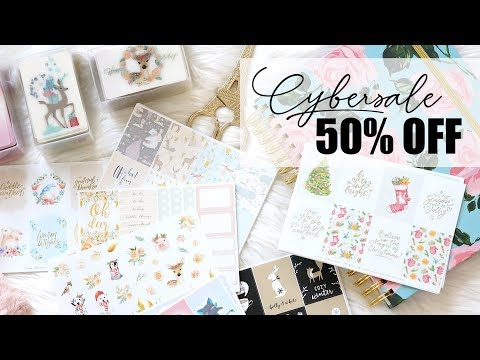 CYBER SALE 50% OFF PLANNER STICKERS, PAPERCLIPS & WASHI CARDS!