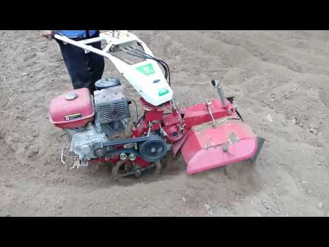 Model 2 cultivator make a ditch for irrigation