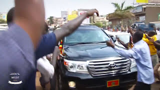 Museveni Blocked On The Way-asked To Leave Ugandans