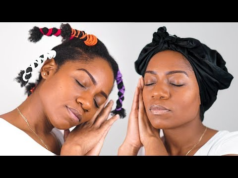 NIGHTLY HAIR CARE ROUTINES (2 Methods) (Moisturising and Sealing) (Baggying Method)