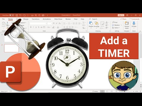 Add a Timer to PowerPoint Slides - Tutorial 2018