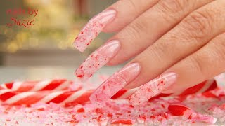 Mrs Claus REAL Candy Cane Nails