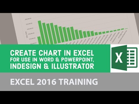 Create chart in Excel for use in Word & Powerpoint, InDesign & Illustrator - Excel 2016 [21/24]