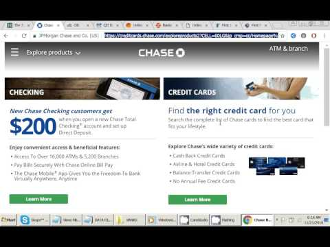 HOW TO ENROLL IN Chase Bank by CC