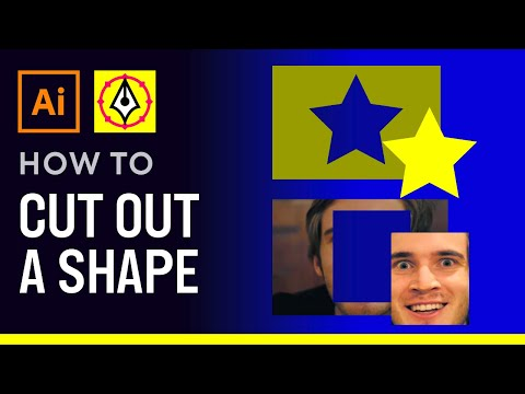 how to cut out a shape in illustrator