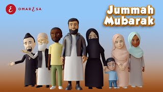 Omar Esa - Jummah Mubarak Nasheed | 3D Islamic Cartoon
