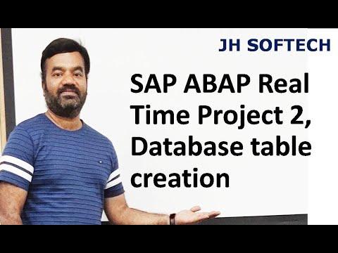 SAP Database table creation