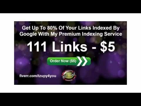 I will get up to 80% of your backlinks indexed by Google