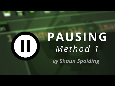GameMaker - Pause Menu Tutorial (Method 1)