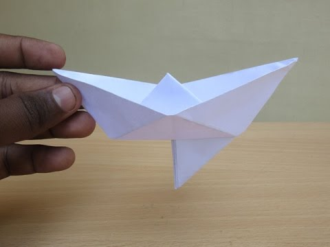 How to Make a Paper boat with a Rudder - Easy Tutorials