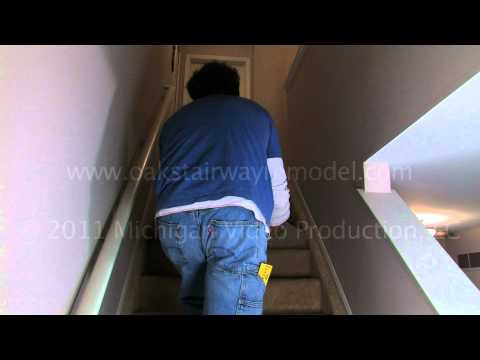 How to remove the carpet, tack strips, padding and staples from carpeted stairs.