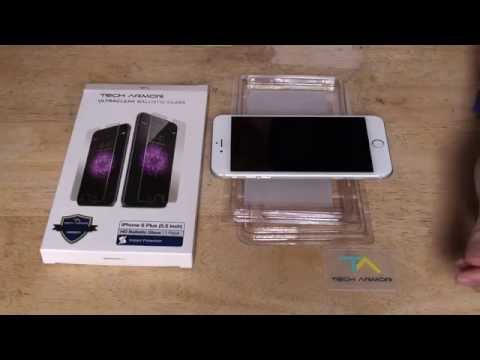 Tech Armor HD Clear Ballistic Glass Screen Protector (overview and installation)