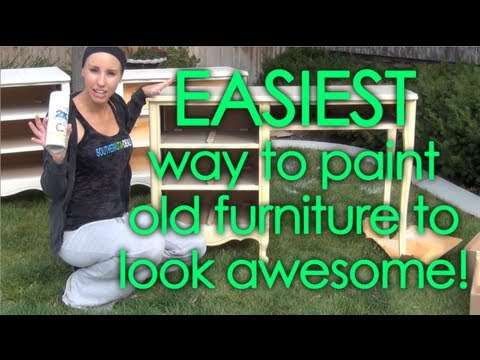 DIY Paint or Refinish Old Bedroom Set FAST EASY AFFORDABLE