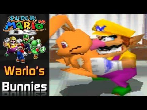 Super Mario 64 DS - Wario's Bunny Location (Bonus #1)
