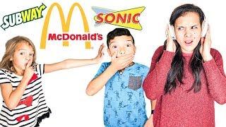 Download No Talking WHISPER Fast Food Challenge!! Last to Talk WINS!! Video