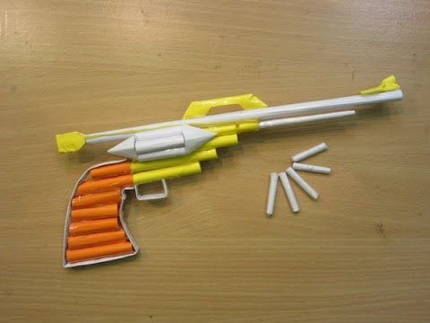 How to Make a Paper Gun that shoots - Easy Paper Pistol Tutorials