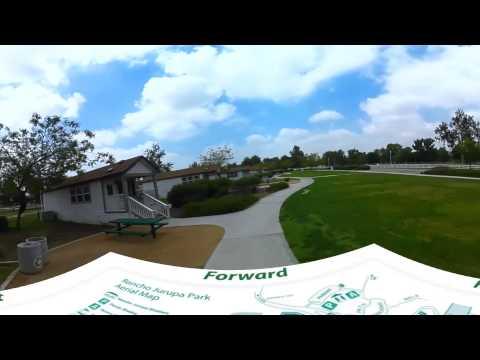 Rancho Jurupa Park RV Park and Campground Riverside California - 360 Video Virtual Tour 4K