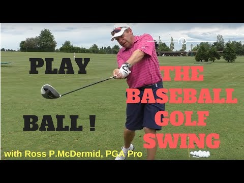 Swing it like a Baseball Bat - More Driving distance with the Baseball Drill