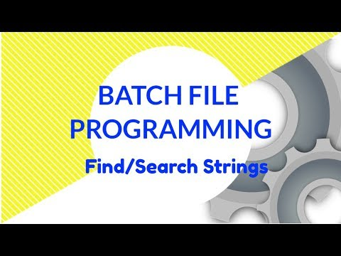 Find/Search a string using Batch File programming