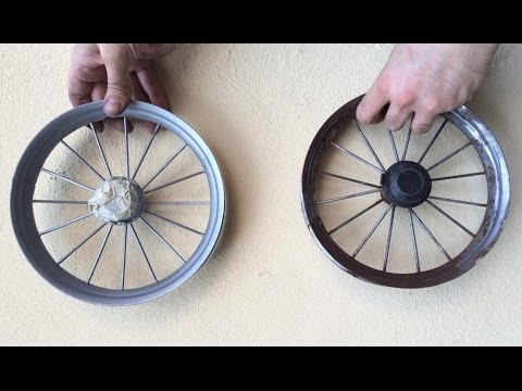 Renovating Rusty Stroller Wheels: Rust Removal and Repainting