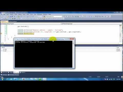 Geo Coding with C# using Google API
