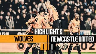 Leander Levels It Up Wolves 1 1 Newcastle United Highlights