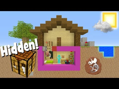 Minecraft Tutorial: How To Make A Crafting Table Hidden Room