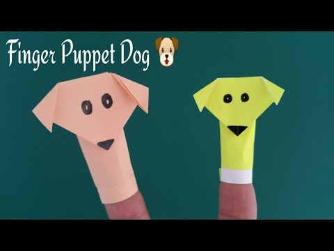 Finger Puppet Dog 🐩 - DIY Fun Origami Tutorial by Paper Folds ❤️.