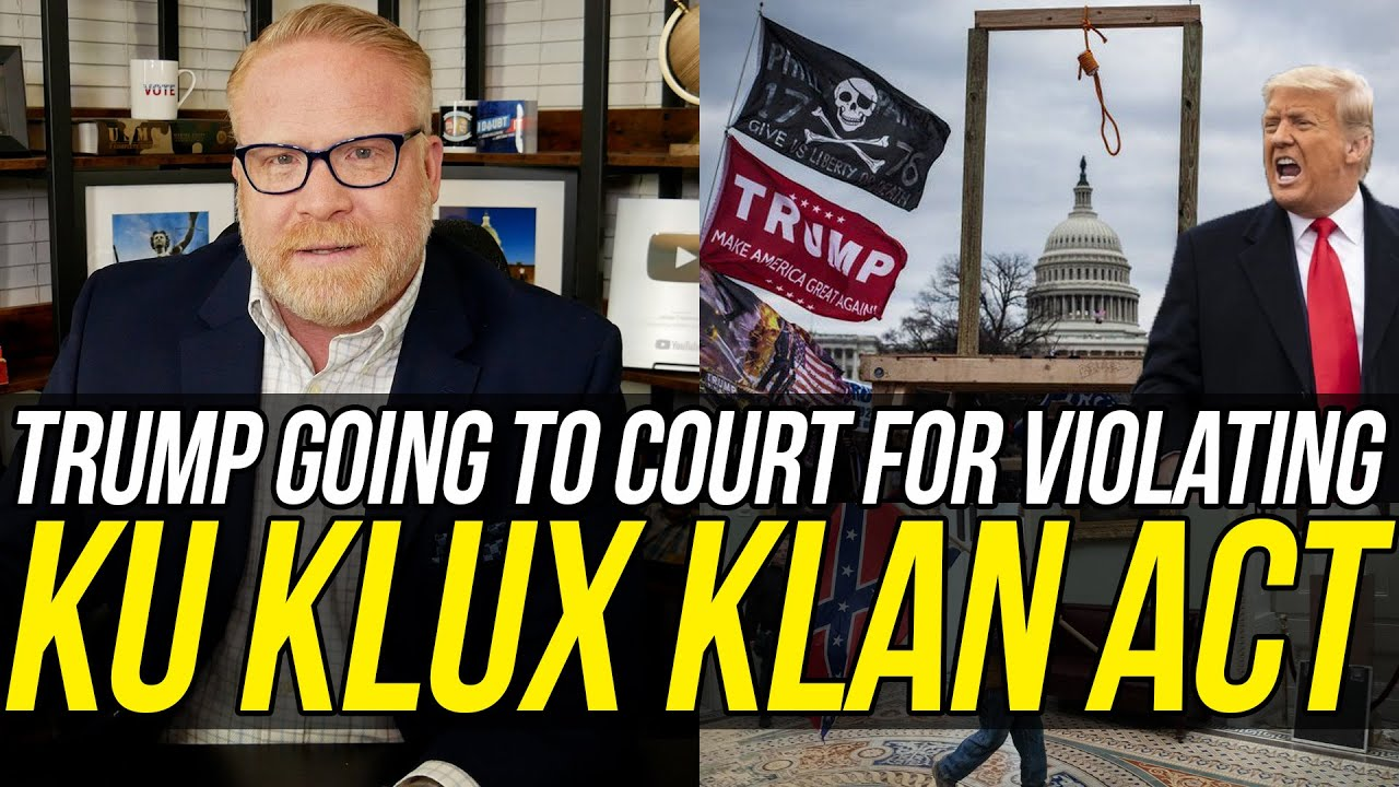 Trump Served w/ Lawsuit for Breaking 'Ku Klux Klan' Laws During Capitol Insurrection!