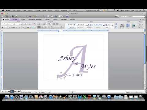 How to create a monogram using Microsoft Word