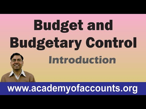 Budget and Budgetary Control (Introduction) ~ Cost and Management Accounting [For B.Com/CA/CS/CWA]