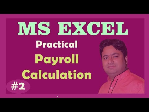DAY 2– Salary Calculation in Excel (Payroll) | Learn Advance Excel Tutorial in hindi by Manoj Sir