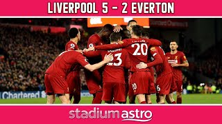 Liverpool 5-2 Everton | EPL Highlights | Astro Supersport