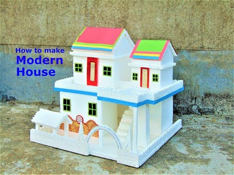 DIY    Thermocol House model - How To Make small Thermocol House - school project for kids