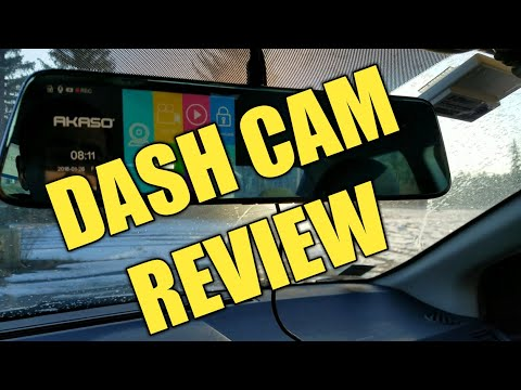 AKASO DL2 Mirror Dash Cam With Backup Camera Review