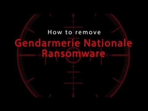 Gendarmerie Nationale Ransomware Removal