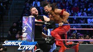 Nakamura & Orton battle Owens & Zayn in SmackDown LIVE