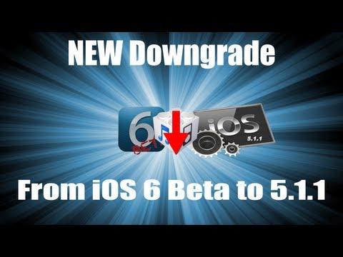 Downgrade da iOS 6.0 Beta ad iOS 5.1.1 iPhone 3GS,4,4S; iPod Touch 4G, iPad 1,2,3